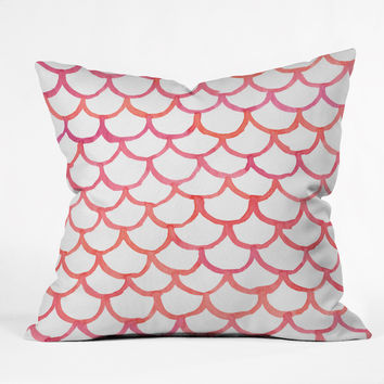 Social Proper Scalloppy Throw Pillow