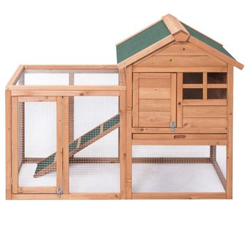Wooden Rabbit Hutch Chicken Coop