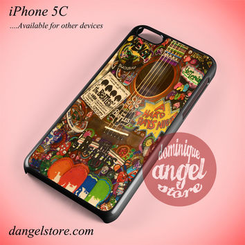 The Beatles Hippie Guitar Phone case for iPhone 5C and another iPhone devices