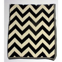 Navy Zig Zag Throw