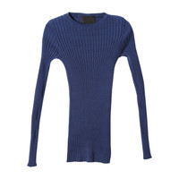 Stretch Ribbed Sweater (Blue) | STYLENANDA