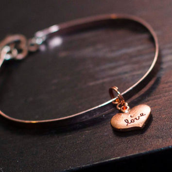 I Love Anklet, Metal jewelry, Submissive Collar Alternative, Slave Collar Alternative, ddlg