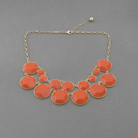 Orange bubble statement necklace,holiday party,birthday,bridesmaid gift,Beaded Jewelry,wedding necklace