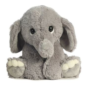 Grey Elephant Stuffed Plush Pillow Cushion Plush Baby Toy Gift Lil Benny Phant