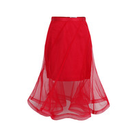 Double Layerd Mesh Skirt