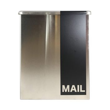 Modern Mailbox Wall Mount Steel Contemporary Metal Letter Box