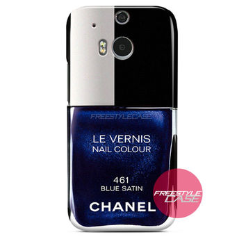 CHANEL Nail Polish Le Vernis 461 Blue Satin HTC Case Cover Series