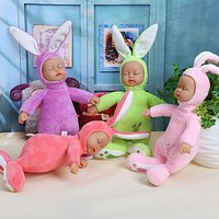 Baby Dolls Toys 25cm Rabbit Plush Stuffed Baby Doll Simulated Babies Sleeping Dolls Soft Plush For Baby Birthday Gift