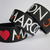1PC I Love MAROON 5 Wristband Promotion Gift Debossed Custom Silicone Bracelet