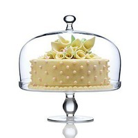 Luigi Bormioli Michelangelo Footed Cake Plate With Dome | Bloomingdale's