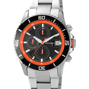Vince Camuto Mens Silver-Tone Chronograph Watch