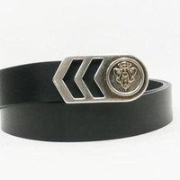 Gucci Emblem Belt Black