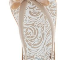 Capelli New York Jelly Bow & Thong Ladies Flip Flop On A Dasies Print