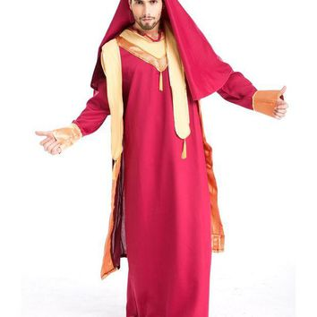 DCCKH6B MOONIGHT New Arrival Arab Prince King Clothes For Men Halloween Party Fancy Costume Cosplay Costume