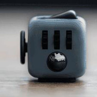 Stress Relief and Focusing Fidget Cube for ADHD Kids, Adults - Color Grey & Black - Free Shipping