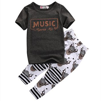Music Moves Me Baby Boy Clothing Set with Leggings