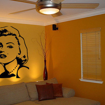 Lrg Marilyn Monroe Silhouette by CreativeDropPrinting on Etsy