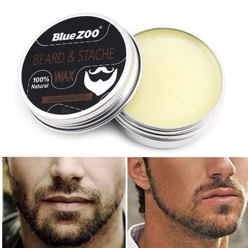 100% Natural Beard & Stache Wax Smooth Grooming Beard Balm Moisturizing