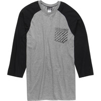 Volcom No Salteeze Raglan T-Shirt - 3/4-Sleeve - Men's Heather Grey,