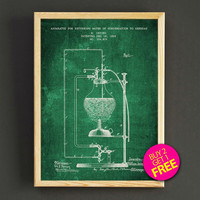 Laboratory Equipment Patent Print Science Equipment Blueprint Poster House Wear Wall Art Decor Gift Linen Print - Buy 2 Get FREE -310s2g