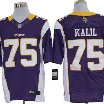 ESBYD9 Nike Vikings #75 Matt Kalil Purple Team Color Mens NFL Elite Jersey