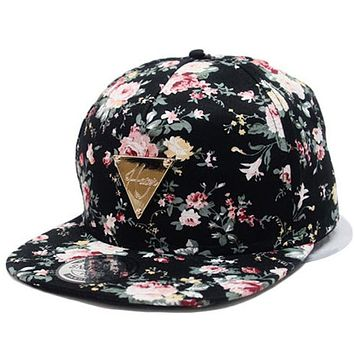 Fashion Baseball Cap New Caps Snapback Floral Adjustable Baseball Women's Hat Sports Hip Pop Caps Hat Casquette Pokemon Bone