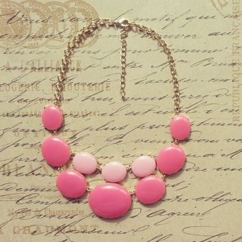 Pink Kate Spade Inspired Statement Necklace