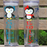 Christmas tumbler, Personalized tumbler, Stocking Stuffer, kids tumbler, acrylic cup, skinny tumbler, school party, teacher christmas gift