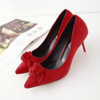 Butterfly Pointed Toe Shoes [4919871876]