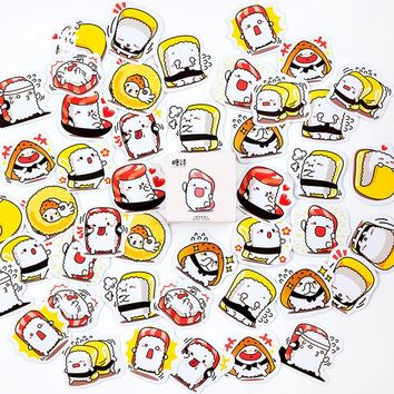 AN07 45pcs /Pack Sushi Rice Adhesive DIY Sticker Stick Label Notebook Album Diary Decor Student Stationery