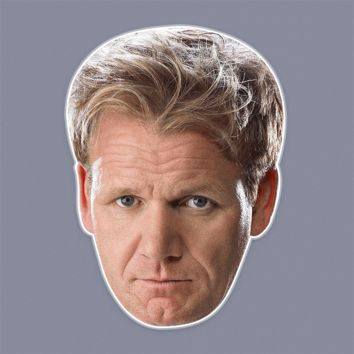Angry Gordon Ramsay Mask - Perfect for Halloween, Costume Party Mask, Masquerades, Parties, Festivals, Concerts - Jumbo Size Waterproof Laminated Mask