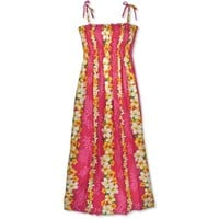 dream pink hawaiian maxi dress
