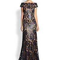 Tadashi Shoji - Sequined Lace Gown - Saks Fifth Avenue Mobile