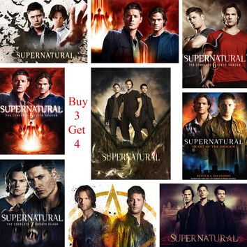 Supernatural Posters Movie Wall Stickers White Coated Paper Prints Clear Image Home Decoration Livingroom Bedroom Home Art Brand