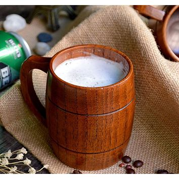 Classic Natural Wooden Barrel Cup