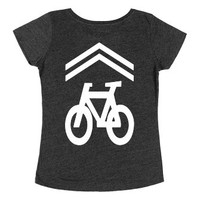 Share the Road-Female Heather Onyx T-Shirt