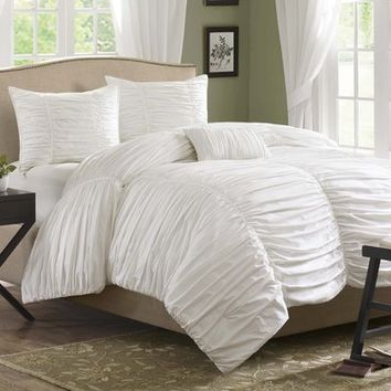 Delancey 4 Piece Duvet Cover Set