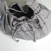 Drawstring Closure ADD ON to any Hobo Bag. Braided JERSEY fabric. Coordinate with your Hobo Bag over 30 color options.