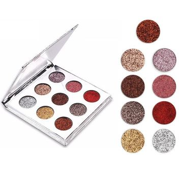 9 Colours/set Shimmer Eyeshadow Palette Natural Glitter Eye Shadow Matte Makeup Set Cosmetic Shimmer Eye Shadow Make Up Kit