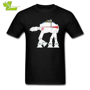 Ghostbusters AT-AT Star Wars T Shirt Adult Latest Tee Shirts Popular High Quality T-Shirt Men's Short Sleeve Novelty Dad Tee