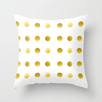 Gold Spots Throw Pillow by Ashley Hillman