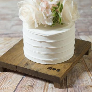 Custom Set of Wood Cake Stands, Rustic Wedding