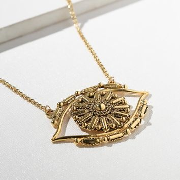 The Big Eye Gold Necklace