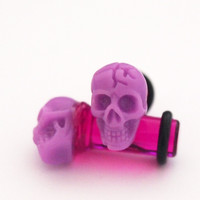 Glamsquared — Little Skull Acrylic Plugs