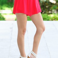 All I Have To Give Shorts-Red Dress Red