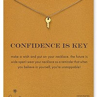 """Dogeared Confidence is Key Necklace, 18"""""""
