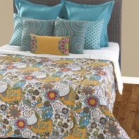 Carmen Teal King Size Duvet with Poly Insert Bed Set