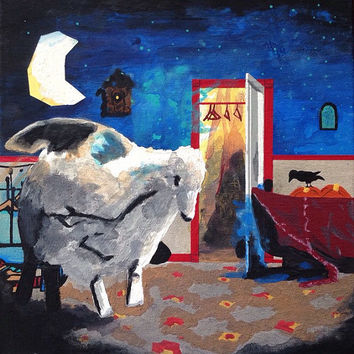 Fall Out Boy/Infinity on High 12x12 Painting/Pete Wentz/Pop Punk Album Art/Music Home Decor/Colorful Home Decor/Magical Home Decor