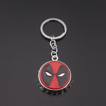Deadpool Dead pool Taco RJ Fashion Anime Cartoon Jewelry  Red Mask Keyring High Quality Beer Bottle Opener Metal Keychain For Fans Jewelry AT_70_6