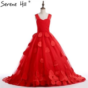 Red Rose Petal Flower Girl Dresses first Communion Dresses For Girls pageant dresses for girls